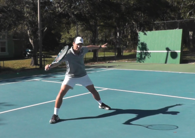 Backhand Volley One Handed