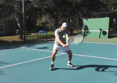 Backhand Volley Two Handed